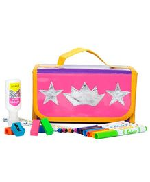 Li'll Pumpkins Crown & Star Stationary Organizer - Pink