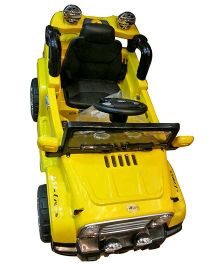 Next Gen Kids Battery Operated Mahindra Jeep With Remote Control - Yellow
