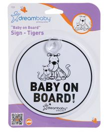 Dreambaby Baby On Board Sign - White