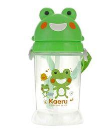 Kaeru Sliding Lid Water Bottle Green - 350 ml