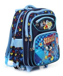 Disney Mickey Mouse And Friends School Bag Trolley Navy - 15 inches