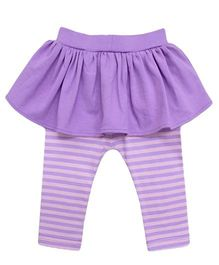 A.T.U.N. Peplum with Striped Legging - Lilac & Pink