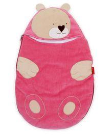 Sapphire Sleeping Bag Teddy Bear Design - Pink