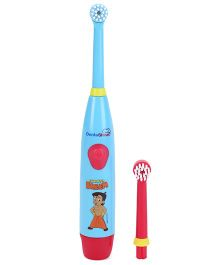 Dentioshine Chhota Bheem Power Tooth Brush With Extra Head - Sky Blue and Red