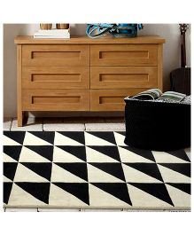 Little Looms A Classic Monochrome Rug - Black & White