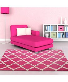 Little Looms A Bold Color Rug - Pink