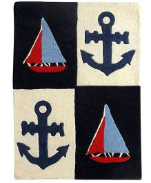 Little Looms Sail The Seas With Captain Hook Rug - Multicolor