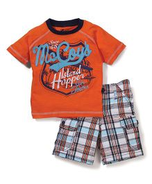 Boyz Wear Mecoys Print T-Shirt & Shorts Set - Multicolor