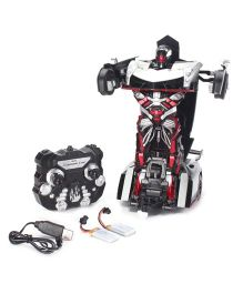 Turboz Transforming Car Cum Robot Silver And Black - 28 cm