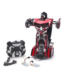 Turboz Transforming Car Cum Robot Red And Black - 26 cm