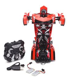 Turboz Transforming Sports Car Cum Robot - Red And Black