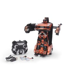 Turboz Transforming City Car Cum Robot Orange And Black - 27.5 cm