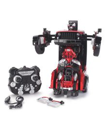 Turboz Transforming Jeep Cum Robot Red And Black - 27.5 cm
