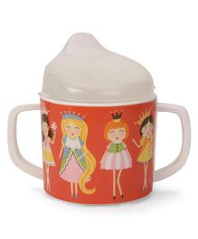 Sugar Booger Princess Print Sippy Cup - White & Orange