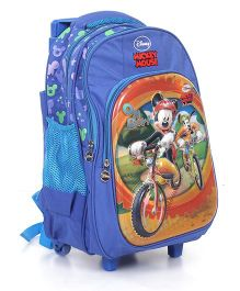 Disney Mickey Mouse And Friends School Trolley Bag Blue - 16 inches