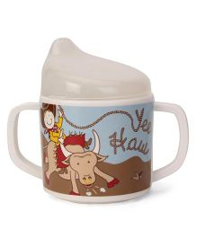 Sugar Booger Yee Haw Print Sippy Cup - Blue & White
