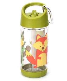 Sugar Booger Fox Print Water Bottle  - Green