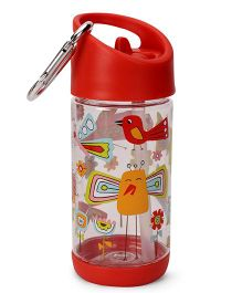 Sugar Booger Printed Water Bottle  - White & Red