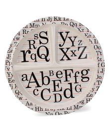 Sugar Booger Divided Suction Plate Alphabet Print  - Black