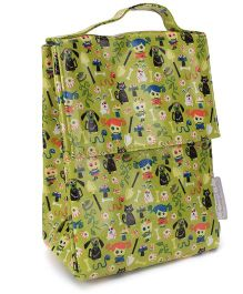 Sugar Booger Multic Print Classic Lunch Sack  - Dark Green