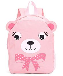 Fox Baby School Bag Animal Face Print Pink - 11 Inches