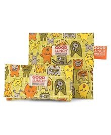 Sugar Booger Printed Lunch Snack Sacks - Greeen