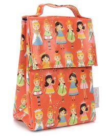 Sugar Booger Princess Print Classic Lunch Sack  - Orange