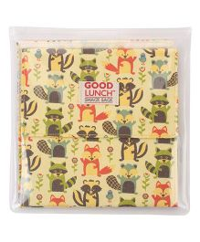 Sugar Booger Animal Print Lunch Snack Sack - Yellow