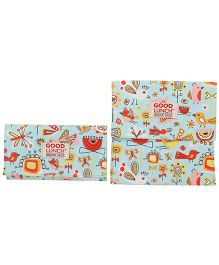 Sugar Booger Bird Print Lunch Snack Sack - Blue