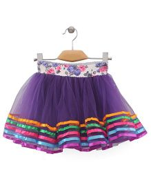 Wenchoice Flower Print Skirt - Purple