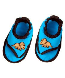 SnugOns Dino Print SlipOns - Blue