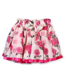 Wenchoice Flower Print Baby Skirt - Cream & Pink
