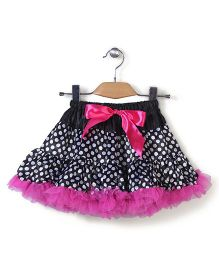 Wenchoice Polka Dot Tutu Skirt - Pink & Black