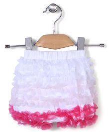 Wenchoice Ruffled Shorts - White