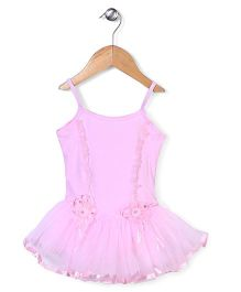 Wenchoice Dress With Flower Applique - Light Pink