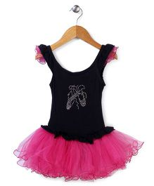 Wenchoice Ballerina Style Dress - Black & Pink