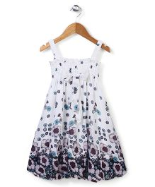 Wenchoice Flower Print Dress - White