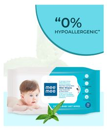 Mee Mee Caring Baby Wet Wipes - 72 Pieces