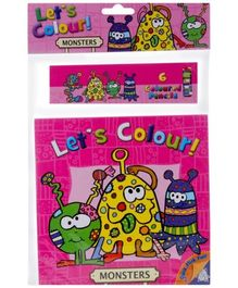 Let's Colour Monster - English