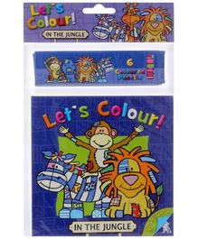 Let's Colour In The Jungle - English