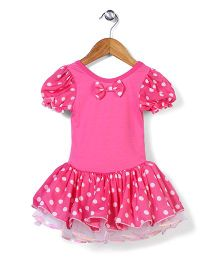 Wenchoice Polka Dot Dress With Bloomer - Pink