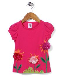 Wenchoice Flower Print Top - Pink