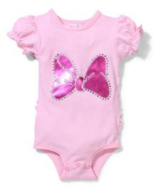 Wenchoice Bow Print Studded Onesie - Pink