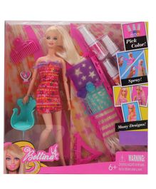 Tickles Hairtastic Color And Design Salon Barbie Doll Pink - 11 Inches