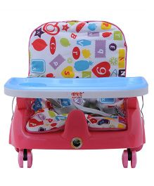 Happykids Adjustable Booster Seat With Wheels - Pink