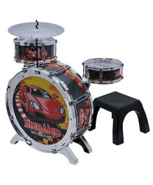Happy Kids Drum Set With Lights - Multicolor