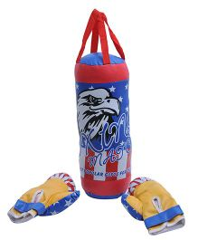 Happy Kids Punching Bag And Boxing Gloves - Blue