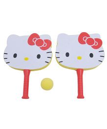 Happy Kids Sponge Ball And Rackets - Red And White