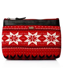 Pluchi Quilted Travel Pouch - Red