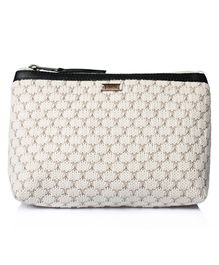 Pluchi Quilted Travel Pouch - White
